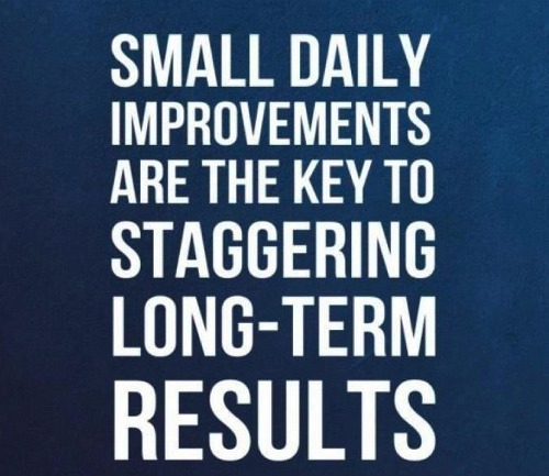 The little things can deliver huge results. Fitness motivation.