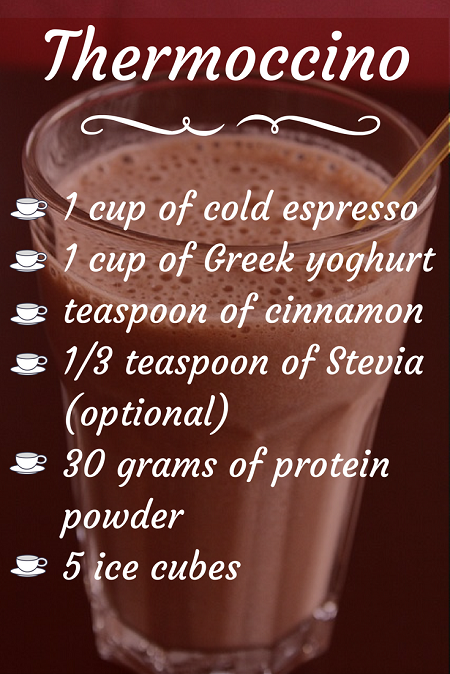 Thermoccino - Fat burning smoothie for coffee lovers