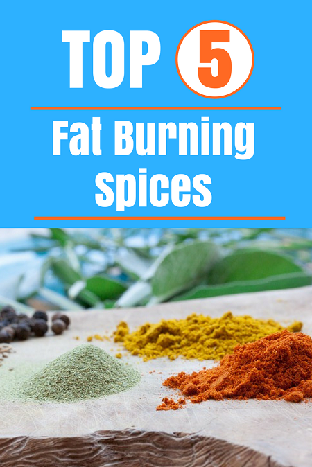 TOP 5 fat burning spices. Boost metabolism and burn fat faster