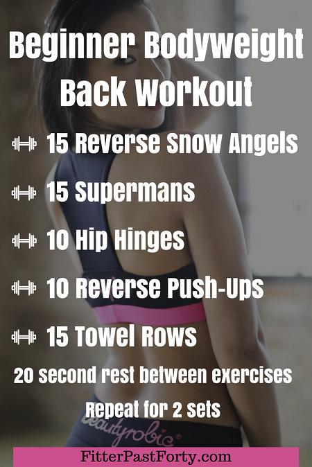 Beginner Bodyweight Back Workout