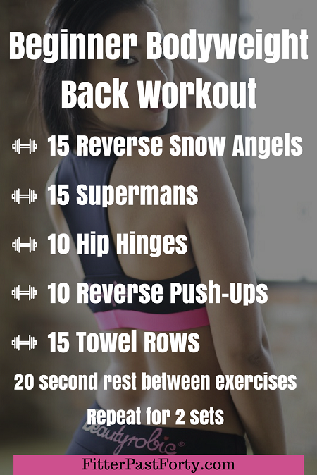 Beginner Bodyweight Back Workout