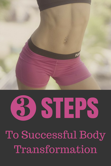 3 Steps To Successful Body Transformation. Lose weight, burn fat and get lean.