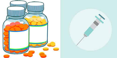 The difference between growht hormone pills and injections