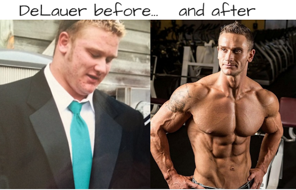 DeLauer before and after