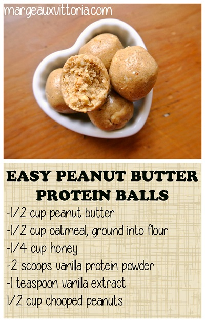 Easy Peanut Butter Protein Balls, gluten free, no bake and no refined sugar.