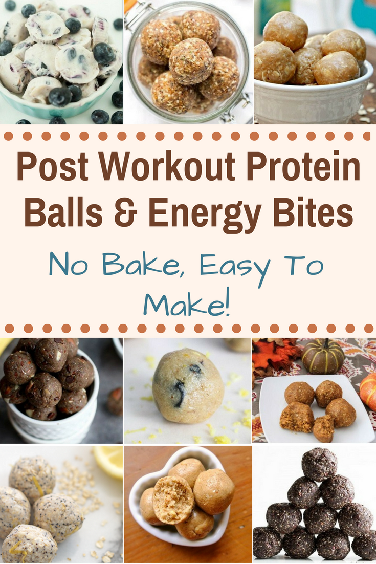 Post Workout Protein Balls & Energy Bites - No Bake, Easy To Make! These are just such a convenient and yummy way to refuel after a workout or as a quick snack to beat those afternoon cravings.