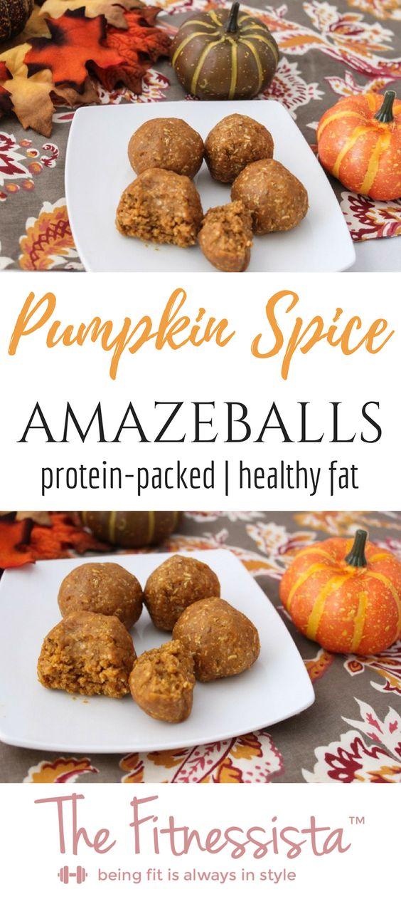 Pumpkin Spice Amaze Protein Balls. These pumpkin protein balls are the perfect healthy seasonal post workout snack! They are chock-full of protein and healthy fat.