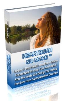 Heartburn No More pdf. Review of Jeff Martin's holistic acid reflux treatment method.