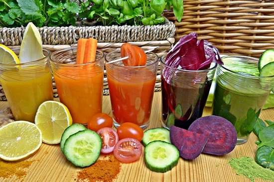 Vegetable juices may help alkalize your body and prevent or relieve heartburn.