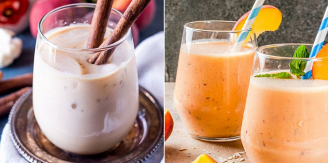 Protein shakes are a great, filling snack.