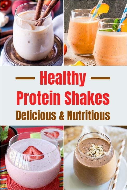These healthy protein shakes are quick and easy to make. They are a great source of energy on the go that will provide you with a ton of nutrients and keep you full for hours.