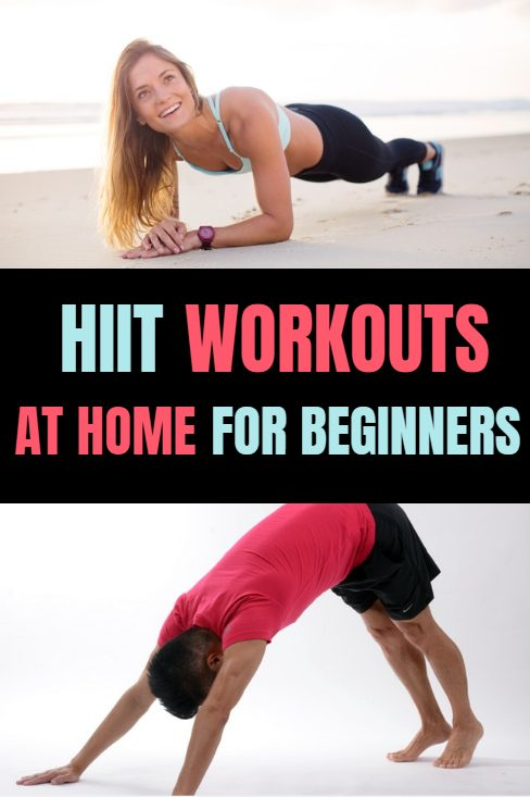 HIIT workouts at home for beginners. Simple beginner HIIT workouts, how to design your own workouts and how to exercise safely from home.