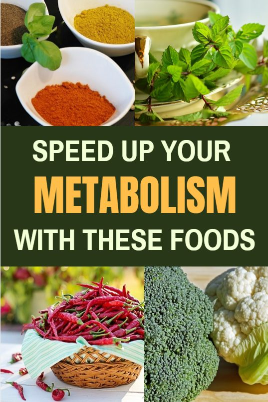 Speed up your metabolism with these foods. This list of foods that increase metabolism is a great guideline for your own fat burning recipes.