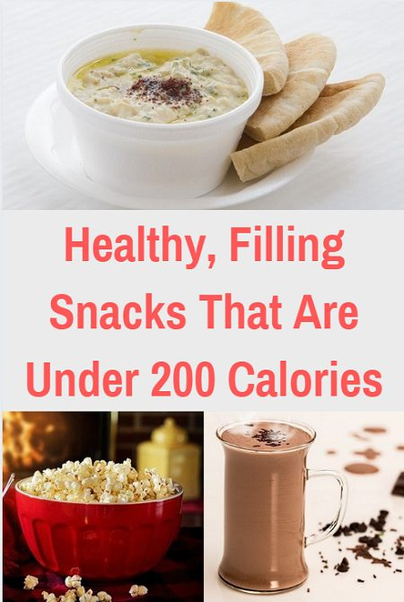 Healthy and filling snacks that are under 200 calories.
